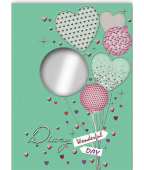 """Ежедневник """"Воздушные шар"""" с зеркальцем, 240 стр"""