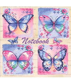 """Записная книжка """"Ноутбук. Бабочки"""" 96 л"""