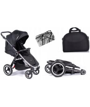 Прогулочная коляска Coletto Joggy 2020 Silver Black