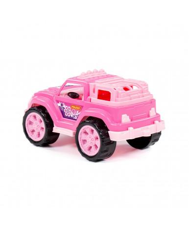 Автомобиль Полесье Легионер розовый (в сеточке)