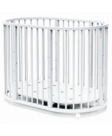 Кровать трансформер 7в1 Bambini М 14, колесо, белый