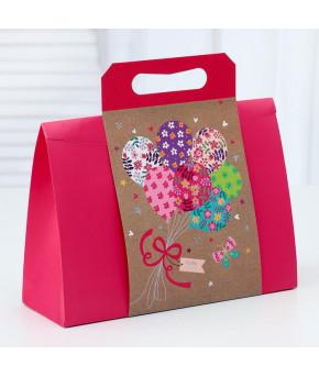 Пакет-коробка с ручкой 31х11х23 см
