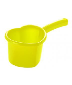 """Ковшик """"Сердечко"""" желтый, 1,5 л"""