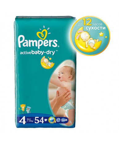 "Подгузники ""Pampers"" Active Baby 4 (7-14 кг) 54шт"