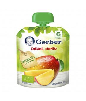 """Пюре """"Gerber"""" gualapack спелое манго, 90гр"""
