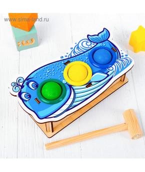 Развивающая игрушка-сортер WoodLand Toys Кит с молотком