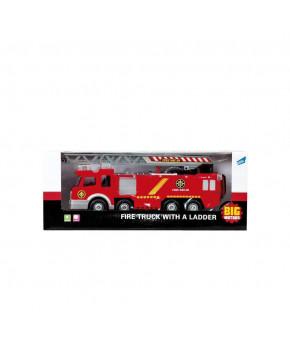 Автомобиль-пожарная Big Motors Машина с лестницей
