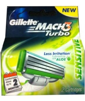 Кассеты Gillette MACH3 Turbo Aloe  4шт