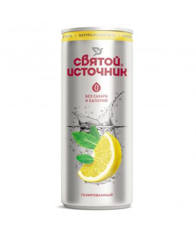 Вода Святой источник газированный cо вкусом лимона и мяты 0,33л