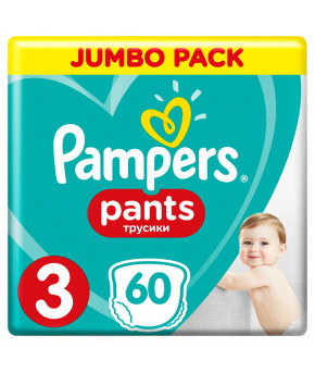 Подгузники-трусики Pampers Pants 3 (6-11кг) 60шт