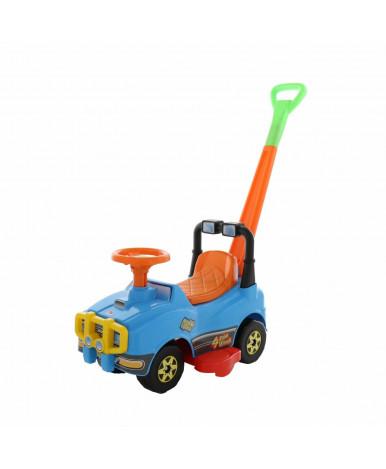 Автомобиль-каталка Полесье Джип с ручкой (голубой)