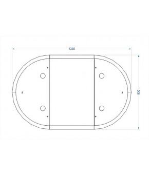 Кровать трансформер 7в1 СКВ 10, универсальный маятник, белый