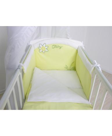Комплект в кроватку Fairy На лугу белый лайм 7пр
