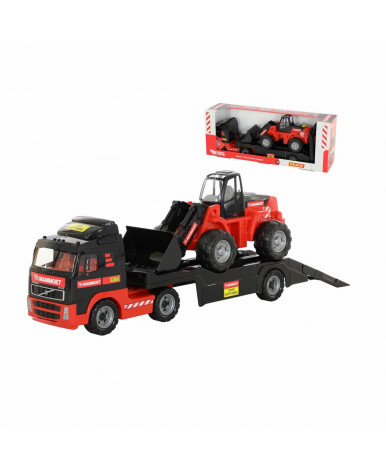 Автомобиль-трейлер + трактор - погрущик Polesie 02 MAMMOET VOLVO
