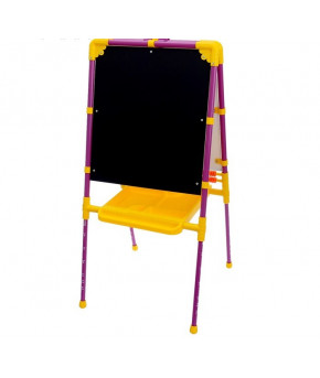 Мольберт Nika Kids двусторонний жёлто-фиолетовый