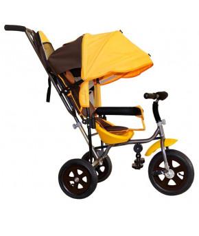 Велосипед трехколёсный Лучик Малют 1 коричнево-жёлтый