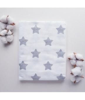 Пеленка SOFI Большие звезды (фланель) 80х100см