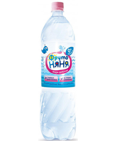 """Вода """"Фруто Няня"""" негазированная, 1,5л"""