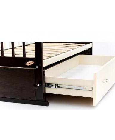 Кровать детская Bambini Euro Style 04, венге темный орех/слоновая кость