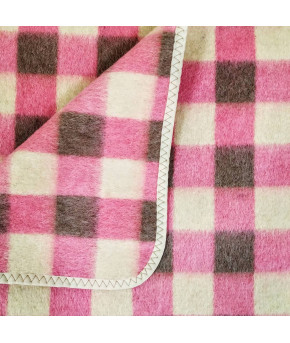 Одеяло Ярослав полушерстяное розовое