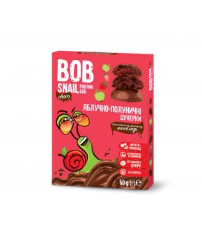 Конфеты Bob Snail яблочно-клубничные в молочном шоколаде натуральные 60г
