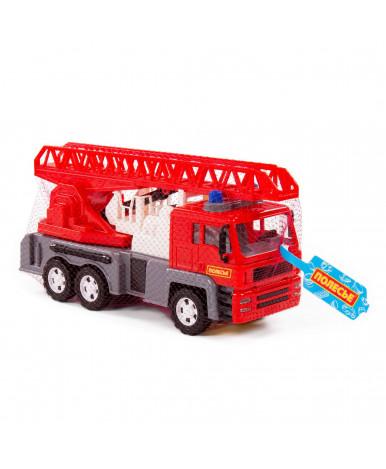Автомобиль инерционный пожарная Полесье Алмаз (в сеточке)