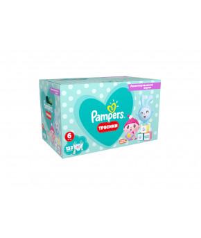 Подгузники-трусики Pampers Pants Малышарики 6 (15+кг) 132шт (2 части, цена за 66шт)