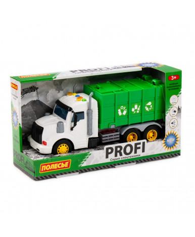 Автомобиль - коммунальный инерционный Полесье Профи со светом и звуком зелёный