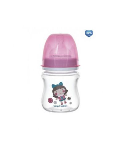 Бутылочка Canpol пластиковая розовая 120 мл