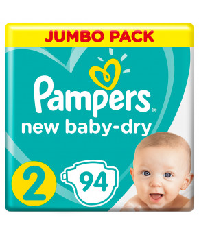 Подгузники Pampers New Baby 2 (3-6кг) 94шт