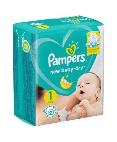 Подгузники Pampers New Baby 1 (2-5кг) 27шт