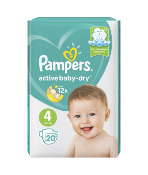 Подгузники Pampers Active Baby 4 (9-14кг) 20шт
