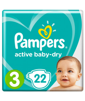 Подгузники Pampers Active Baby 3 (6-10кг) 22шт