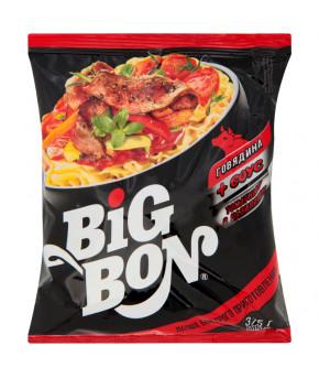 Лапша Big Bon Говядина+соус томатный с базиликом 75г