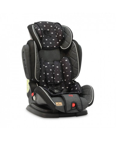Автокресло Lorelli MAGIC Premium Black Crowns (9-36кг)