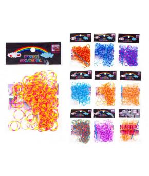 Набор для творчества TUKZAR цветные резиночки полосатые