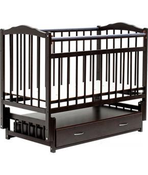 """Кровать детская """"Bambini"""" Classic 10, темный орех"""