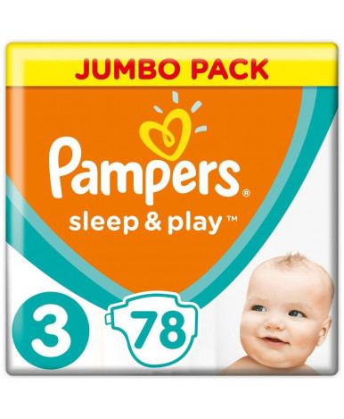 Подгузники Pampers Sleep&Play 3 (6-10кг) 78шт