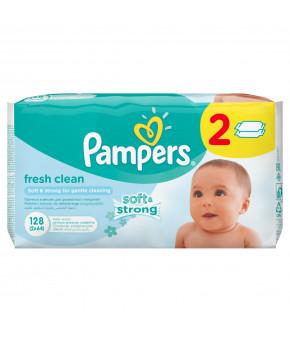 "Салфетки влажные ""Pampers"" Baby Fresh Clean Duo, 2х64шт"