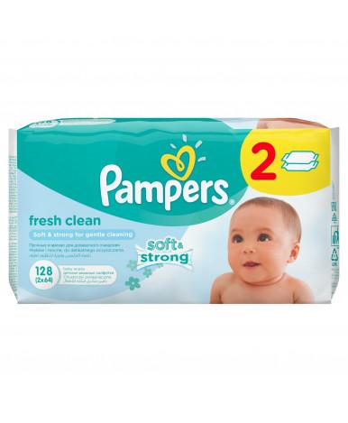 Салфетки влажные Pampers Baby Fresh Clean 2х64шт