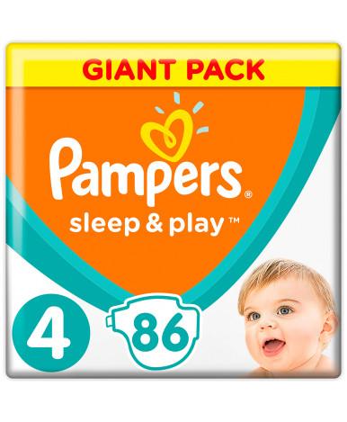 Подгузники Pampers Sleep&Play 4 (9-14кг) 86шт