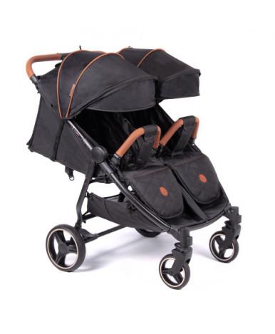 Детская коляска для двойни Coletto Enzo twin black