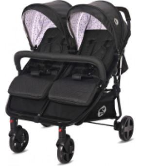 Детская коляска для двойни Lorelli Duo Black Dots