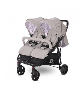 Детская коляска для двойни Lorelli Duo Grey Dots