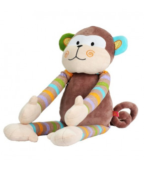 Мягкая игрушка BabyOno Обезьянка с погремушкой