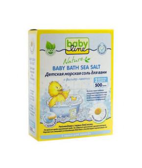 Детская морская соль для ванн BabyLine с ромашкой, 500гр