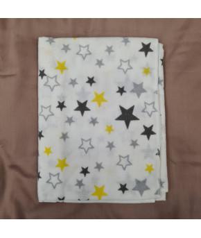 Пеленка Sofi Жёлтые звезды фланель 80х100см
