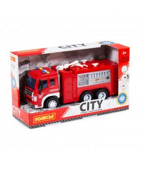 Автомобиль инерционный пожарная Полесье Сити со светом и звуком (в коробке)
