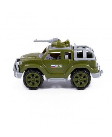 Автомобиль-джип Полесье Легионер-мини с 1-м пулемётом военный (в сеточке)