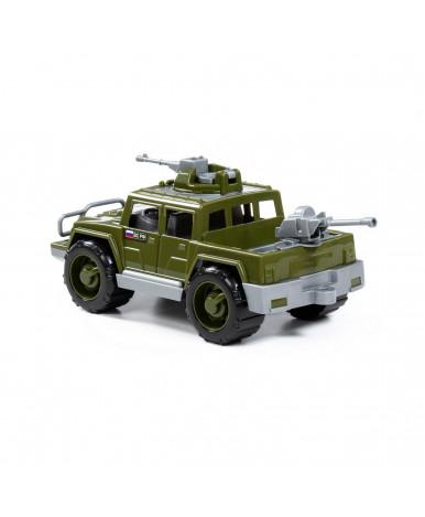 Автомобиль-пикап Полесье Легионер-мини с 2-мя пулемётами военный-сафари (в сеточке)